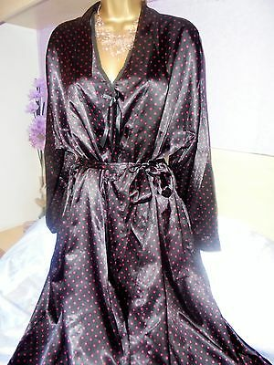 Stunning  Glossy  very silky nightie robe   gown negligee nightdress 20/22
