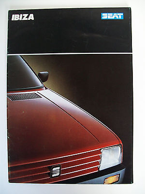 SEAT Ibiza Brochure Collection - Original 1980s Model - 3 items