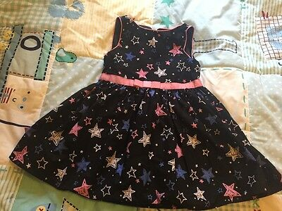Girls star print party dress size 4-5 years