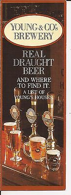 Young's Brewery (London) c1988 flyer - free pp(UK)