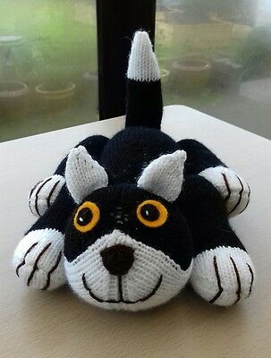 Soft & Cuddly Chester the Hand Knitted Black Cat / Kitten Soft Toy