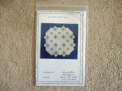 The Pretty Poppy Hardanger Doily Pattern Cecelia Boe