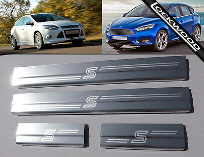 Ford Focus Mk3 Zetec S (released 2011) 4 Door Sill Protectors