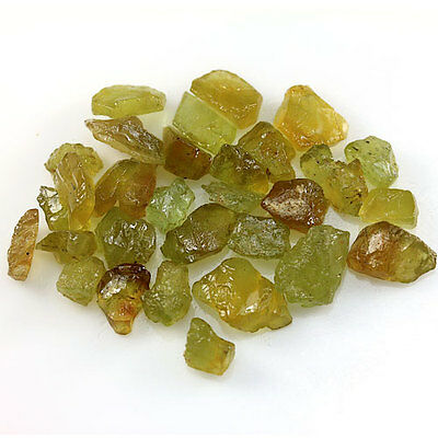 48.62 ct.30 Pcs.Yellow Green Apatite Rough Gemstone (Small Pieces) Free Shipping