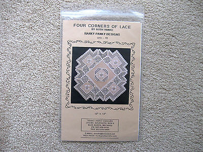 Four Corners of Lace Hardanger Pattern Hanky Panky Designs Ruth Hanke