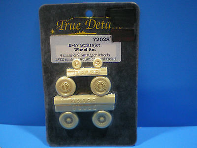 True Details  B-47 Stratojet Wheel set 1:72 scale #72028