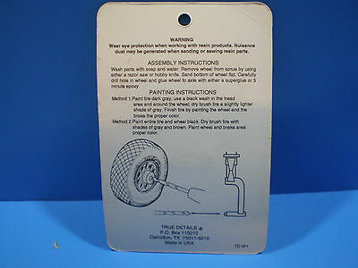 True Details Ki-44 Tojo Wheel set 1:72 scale #72045