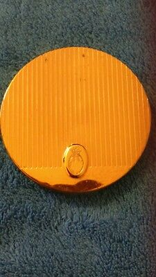 Vintage Coty Powder Compact + Powder in 'Touch of Sun' + Helena Rubinstein Puff