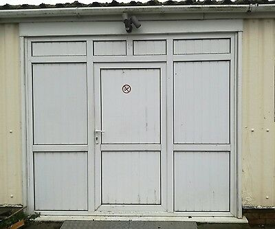 upvc door, frame and additional side panels