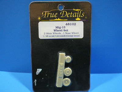 True Details Mig -15 Wheel set 1:48 scale #48102
