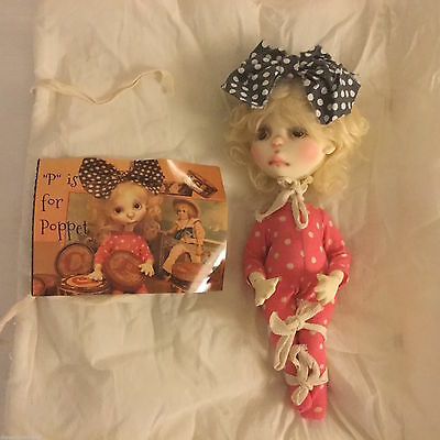 """Connie Lowe MARBLEDHALLS Poppet Sprocket w/COA,Resin 10"""" ball jointed doll RARE"""