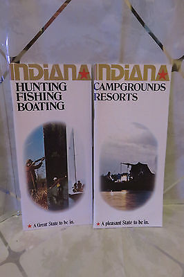 1980s INDIANA Campground Resorts & INDIANA Hunting Fishing Boating Guide Books