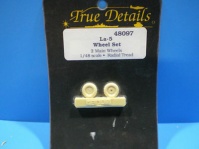 True Details  La-5  Wheel set 1:48 scale #48097
