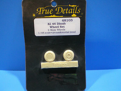 True Details  Ki-46 Dinah Wheel set 1:48 scale #48103