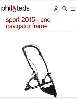 NEW Phil and Teds NAVIGATOR Frame/Chassis Only complete with Handle Bar