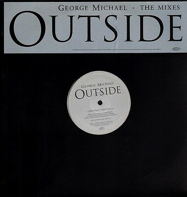 """George Michael-Outside (The Mixes) 12""""-Epic, XPR 3287, 1998, PROMO Plain Sleeve"""