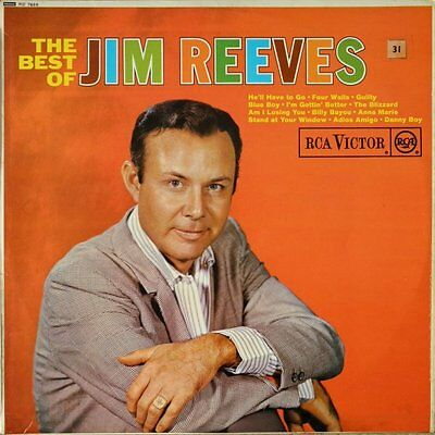 Jim Reeves-The Best Of Jim Reeves LP-RCA Victor, RD 7666, 1964, 12 Track RED DOT