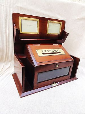 A Victorian Mahogany Country House Letter Box by J.C Vickery