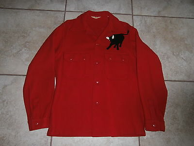 Vintage Official Boy Scouts of America Red Wool Two Pocket Jacket BSA Chest 44""