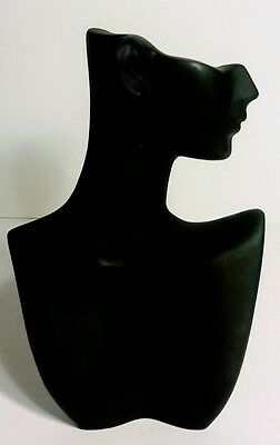 Black Necklace and Earring Jewelry Counter Top Display Figurine, Bust, Mannequin