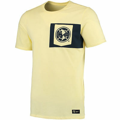 Nike Club America 2016 - 2017 Poly Pocket Crest Soccer Shirt New Yellow 29915c2e3