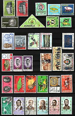 JAMAICA - 1964-70 - 32 Stamps, used fine condition NMH (Lot 3)
