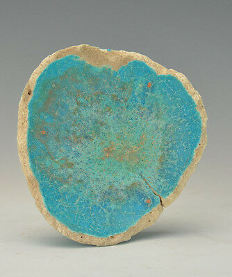Ancient Egyptian New Kingdom Blue Faience Bowl Fragment CIRCA 1500 BC
