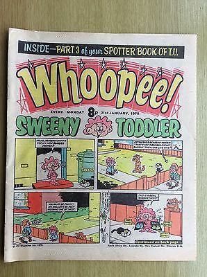 WHOOPEE! Comic + Whoopee SPOTTER BOOK of TV PULLOUT - PART THREE : 21 Jan 1978