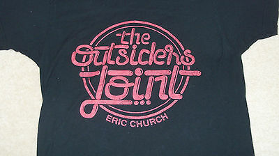 Eric Church The Outsiders Joint Concert Tour Black Shirt MENS LADIES Size M 2015