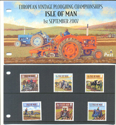 Isle of Man-Ploughing - Farm Vehicles set & Presentation pack- mnh-tractors