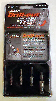 New Alden 4Pc Drill-Out Broken Damaged Bolt Screw Extractor 4017P Made In Usa