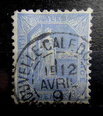 NEW SOUTH WALES 1891 2.5d Used ABROAD : French NEW CALEDONIA CANCEL - r25e717