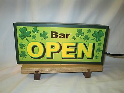 St. Patricks Day Bar Open Lighted Sign