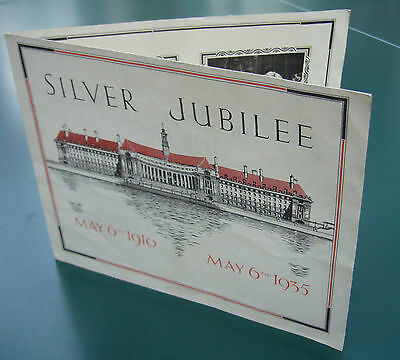 King George V Silver Jubilee 1910-1935 Message to the Children of London Card