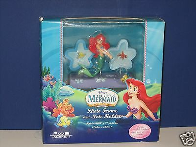 NEW Disney The Little Mermaid Ariel Photo Picture Frame and Note Holder