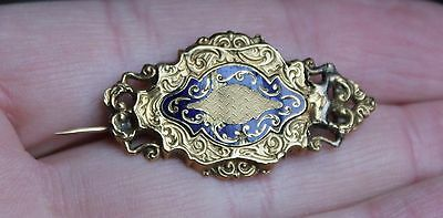 Ancienne Broche En Or Poincons Tete Aigle Napoleon Iii Xix Eme
