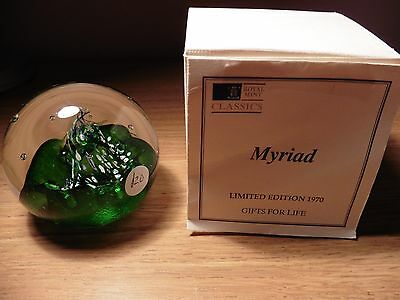 Caithness glass paperweight - Limited Edition - Myriad