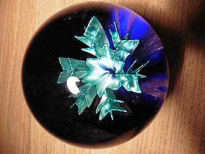 "Caithness glass paperweight  ""Floral Illusion"" limited Edition"