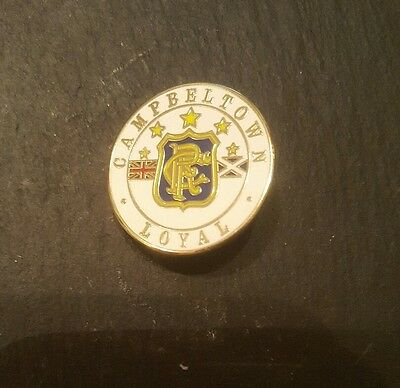 Rangers supporters club football badge. campbeltown loyal