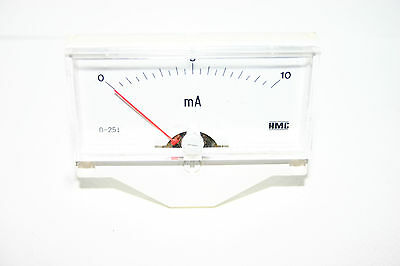 German Quality Screw Mounted Analog AC 0-10MA Scale Range Milliamp Panel Meter