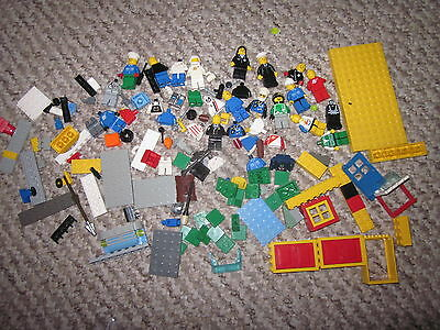 Lego Mini Figures Plus Spare Parts & Accessories Board And Peices