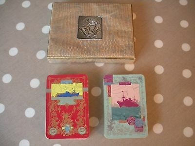 Ellerman Shipping Lines Playing Cards. Vintage. Complete.