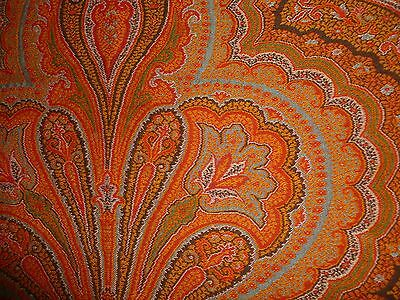 EXCEPTIONAL LARGE ANTIQUE FRENCH KASHMIR PAISLEY SHAWL - 19th Century
