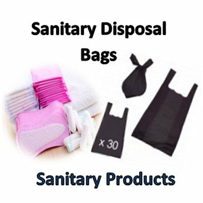 30 (BLACK) Fragranced High Quality Disposable Bags For Sanitary Use **REDUCED**