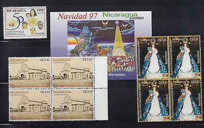 Nicaragua 1998-2004 mint never hinged collection