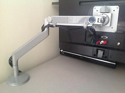 Humanscale M2  LCD Monitor Arm - Clamp Mount - Silver & Gray Trim