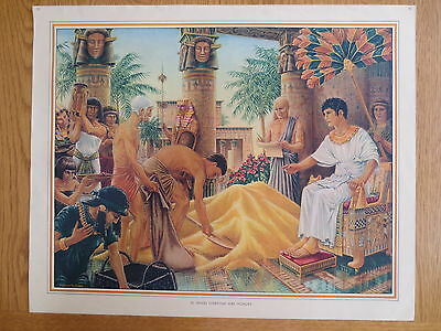 1950'S VINTAGE CLASSROOM POSTER Everyone Was Hungry Bible Stories  Macmillans