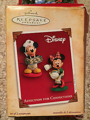 Hallmark DISNEY Mickey Minnie AFFECTION FOR CONFECTIONS ornament 2004