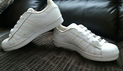 Adidas Superstar Trainers. White Leather. Size Uk 4. Eur 36 2/3.