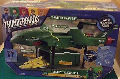 "Thunderbirds ""Supersize Thunderbird 2 with Thunderbird 4"" Action Figure BNIB"